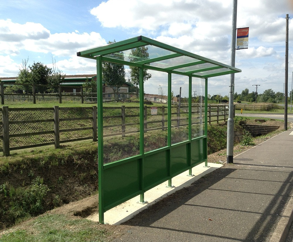 Cantilever bus shelters shelter store