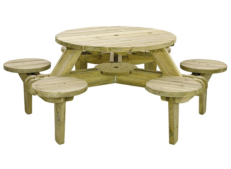 Circular Picnic Table Spruce Timber Shelterstore Buy Online - Spruce picnic table