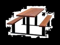 Beaufort Picnic Table (Iroko Timber)