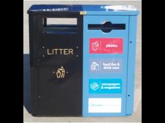 Combo Recycling & Litter Bin