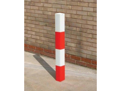 SS Steel Bollard Square Diamond Top