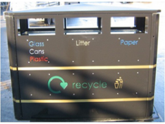 Trio Combo Recycling & Litter Bin