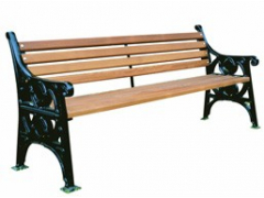 Heritage Seat with Backrest Cast Iron with Timber Slats