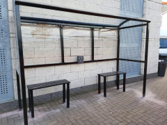 Smoking Shelter Bench - 2 Person