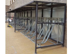 The Semi Vertical Rack Shelter - 12 Bikes