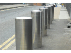 Extra Large Flat Top Stainless Steel Bollard