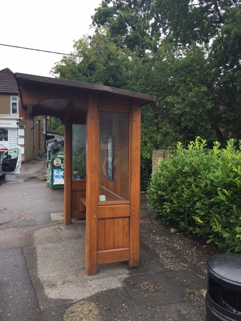 Wood Bus Shelter : Heritage wooden bus shelter