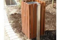 Tauari Oak Litter Bin
