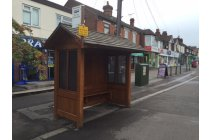 Classic Wooden Bus Shelter