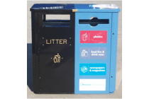 Combo Recycling & Litter Bin