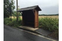 Traditional Wooden Bus Shelter
