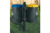 Outdoor recycling bin (3 bins)