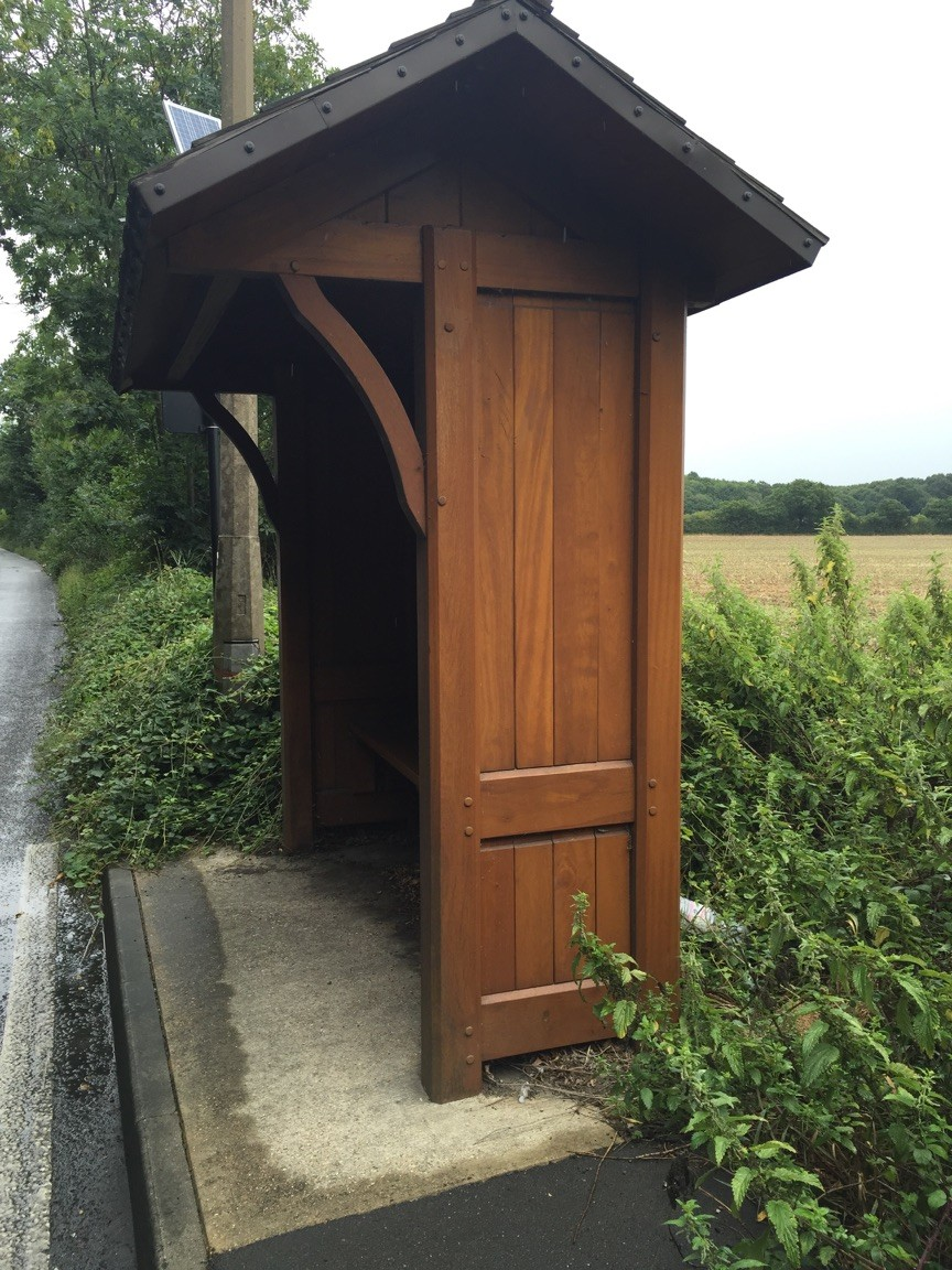 Wood Bus Shelter : Traditional wooden bus shelter