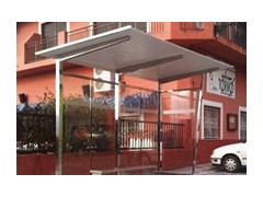 The Prestige Stainless Steel Bus Shelter